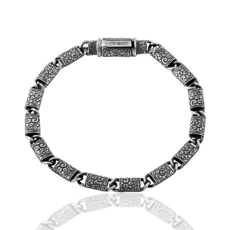 "Monte Carlo Inlay Bracelet // Silver (7"")"