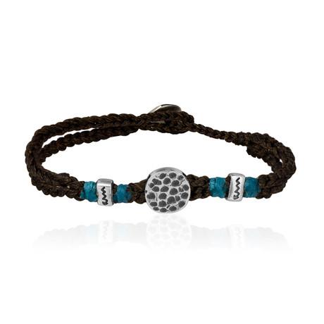 "Lucky Charm Sentiment Bracelet // Brown (7"")"