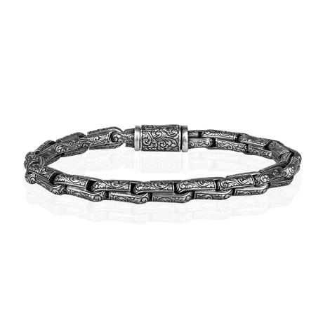"""Milan Inlay Bracelet // Silver (7"""")"""