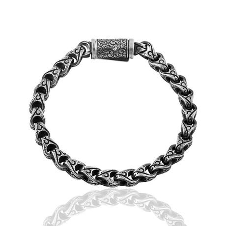 "Sedona Inlay Bracelet // Silver (7"")"