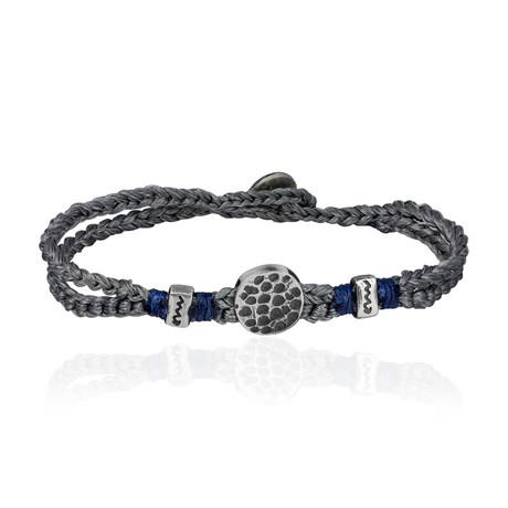 """Lucky Charm Sentiment Bracelet // Gray (7"""")"""