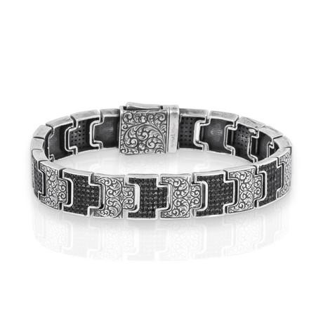 """Spruce Stone Bracelet // Silver (7"""")"""