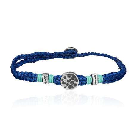 "Lucky Charm Sentiment Bracelet // Navy (7"")"