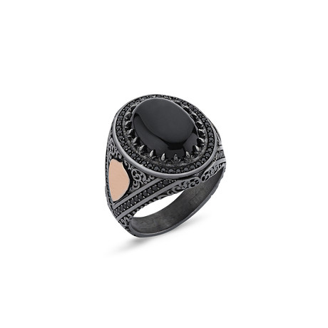 Argita Ring // Rose + Black (8)