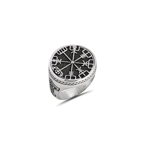 Viking Compass Ring // Silver (8)