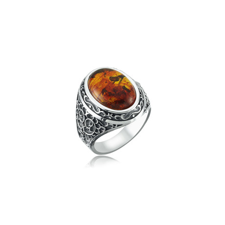 Amber Ring // Silver (8)