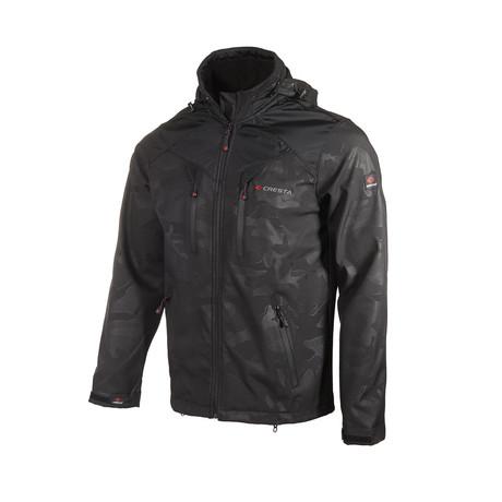 Printed Hooded Weather Proof Jacket // Black (S)