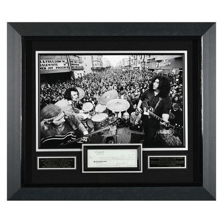 Jerry Garcia // Signed Check Display