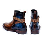 Cross Strap Boots // Brown + Blue (US: 12)