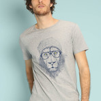 Cool Lion T-Shirt // Gray (S)