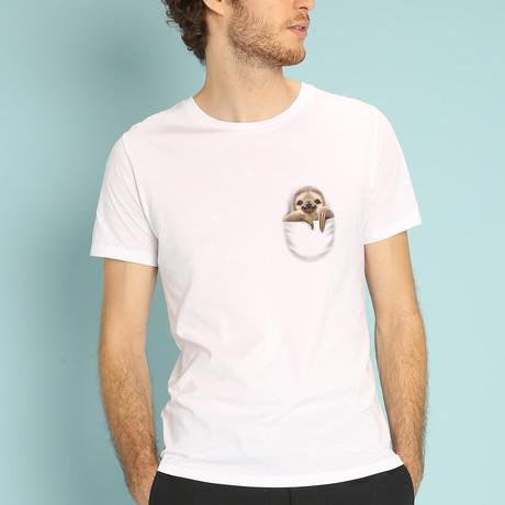 Pocket Sloth T-Shirt // White (S)