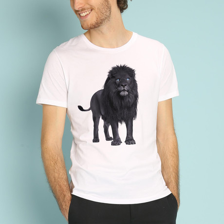 Black Lion T-Shirt // White (S)