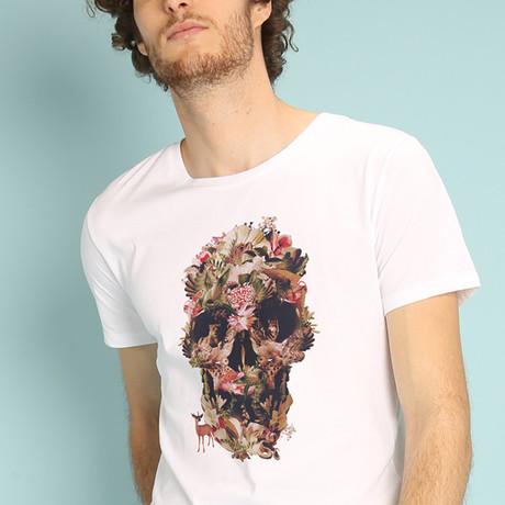Jungle Skull T-Shirt // White (S)