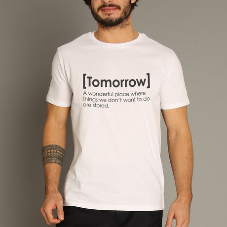 Tomorrow Definition T-Shirt // White (S)