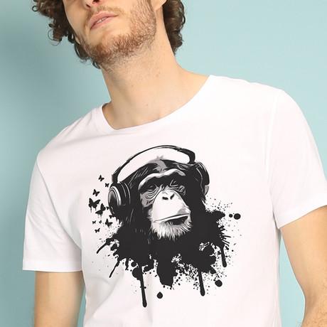 Creative Monkey T-Shirt // White (S)