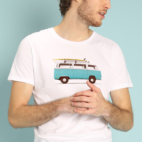 Blue Van T-Shirt // White (S)