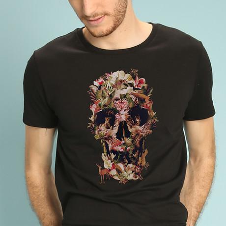 Jungle Skull T-Shirt // Black (S)