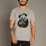 Panda Pizza T-Shirt // Gray (S)