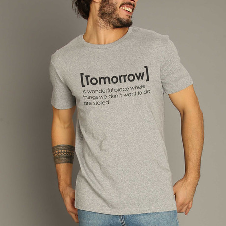 Tomorrow Definition T-Shirt // Gray (S)