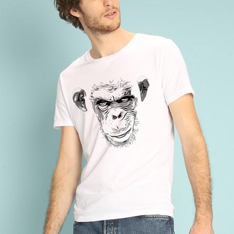 Evil Monkey T-Shirt // White (S)
