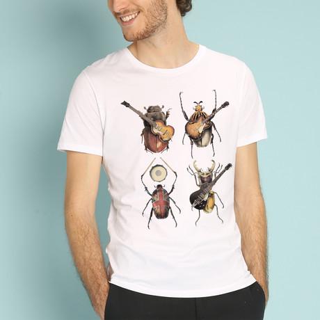 Beetles T-Shirt // White (S)