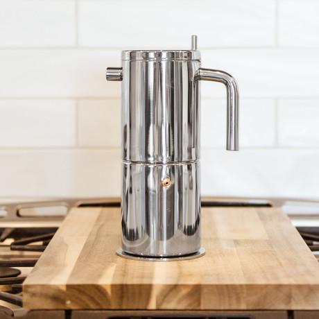 Milano Stella Aroma Espresso Maker // Silver (4 Cup)