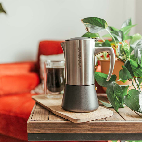 Milano Steel Stovetop Espresso Maker // Brushed (6 Cup)