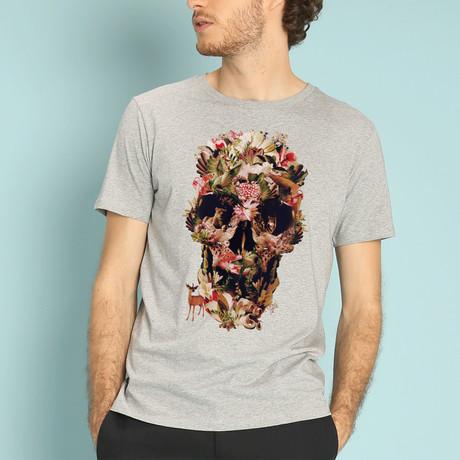 Jungle Skull T-Shirt // Gray (S)