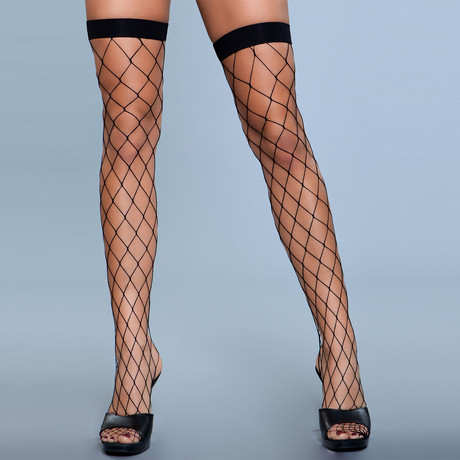 Caught In My Trap Thigh Highs // Black // Set of 2
