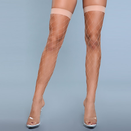 Caught In My Trap Thigh Highs // Nude // Set of 2