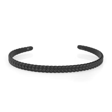 Fish Tail Cuff Bracelet // Black