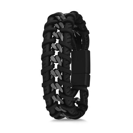 Chain Cuff Bracelet // Black