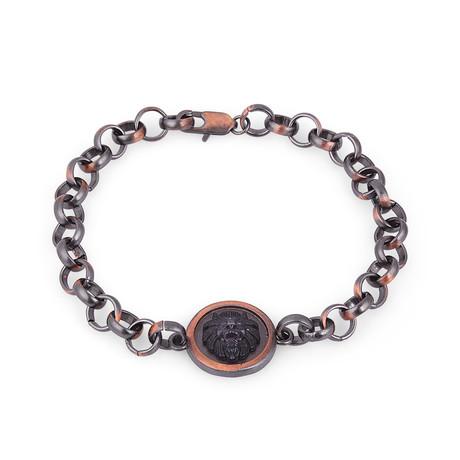 Chain Link Charm Bracelet // Black