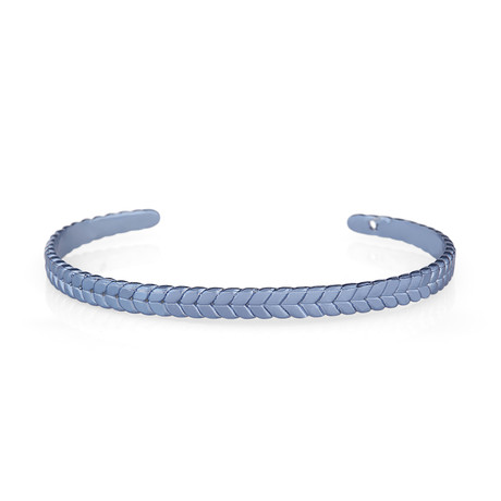 Fish Tail Cuff Bracelet // Blue