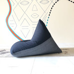 Handloom Cotton Beanbag // Coal + Charcoal