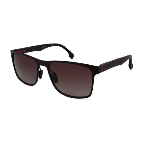 Carrera // Men's 8026-Y24 Polarized Sunglasses // Matte Brown + Brown