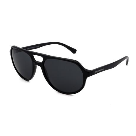 Emporio Armani // Men's EA4111-500187 Sunglasses // Black + Gray