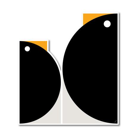"Quadrant Penguins (14""W x 16""H x 0.45""D)"