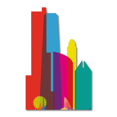 """Shapes of Chicago (10""""W x 16""""H x 0.45""""D)"""