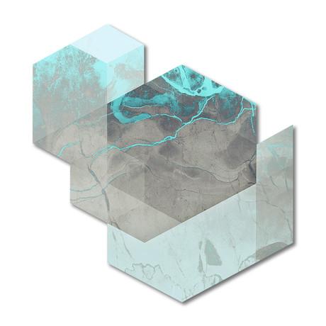 "Marble Geo (15""W x 16""H x 0.45""D)"
