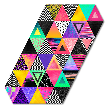 """Quirky Triangles (16""""W x 16""""H x 0.45""""D)"""