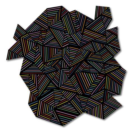 "Ab Linear Rainbow B (16""W x 16""H x 0.45""D)"