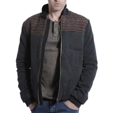 Aztec Accent Shirt Jacket // Black (S)