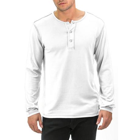 Long Sleeve Henley // White (S)