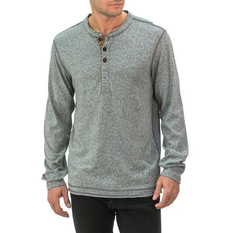 Marled Long Sleeve Henley // Gray (S)