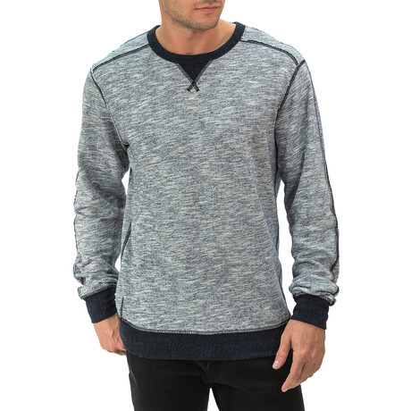 Heathered Crewneck Sweatshirt // Light Gray (S)