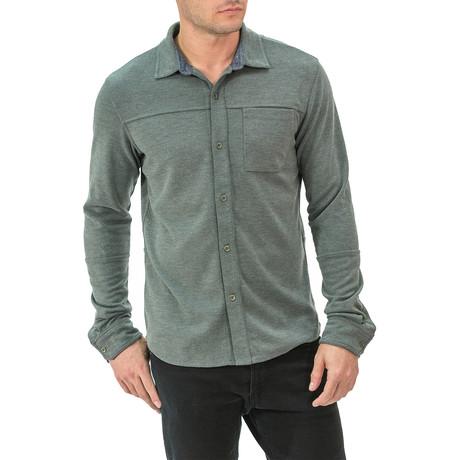 Long Sleeve Button-Down Shirt // Green (S)
