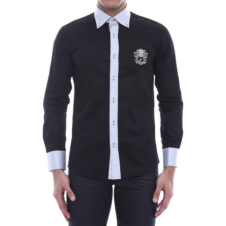 Two-Tone Crested Slim-Fit // Black (S)