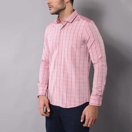Plaid Slim-Fit Shirt // Pink (S)
