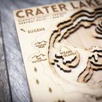 "Crater Lake (6""W x 8""H x 1.5""D)"